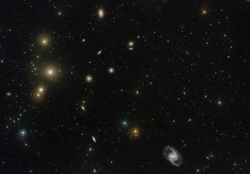 خوشه کهکشانی فورناکس (Fornax)