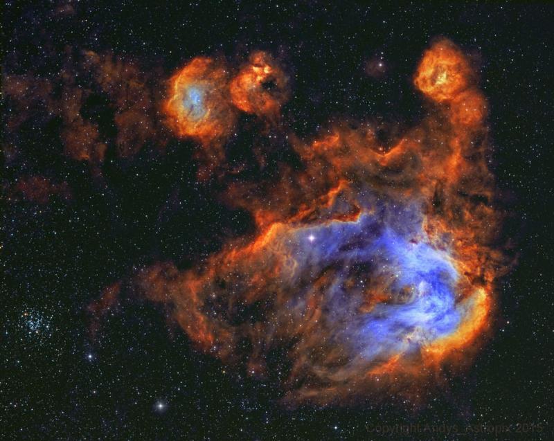 ستاره ها و گاز سحابی مرغ دونده
