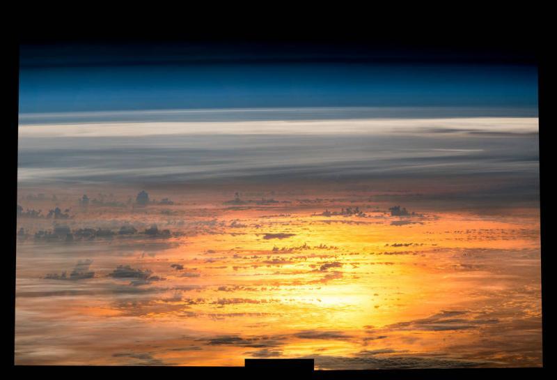 غروب آفتاب از ايستگاه بين المللي فضايي