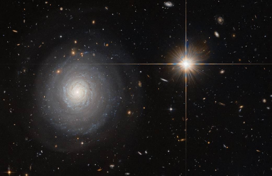 کهکشانی منزوی با ستاره های انفجاری