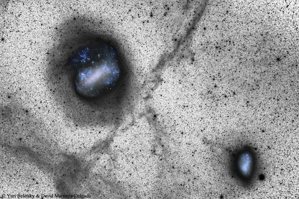 نشانه برخورد در ابر های ماژلانی