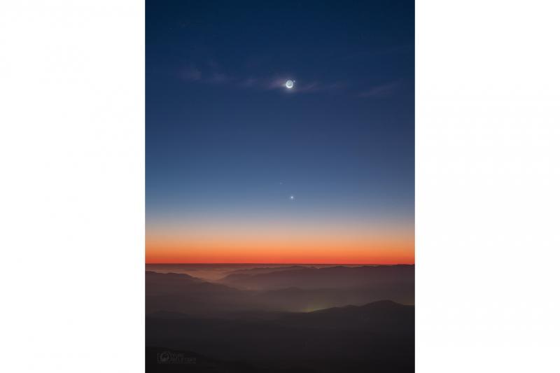 ماه و عطارد در آسمان لاس کامپاناس