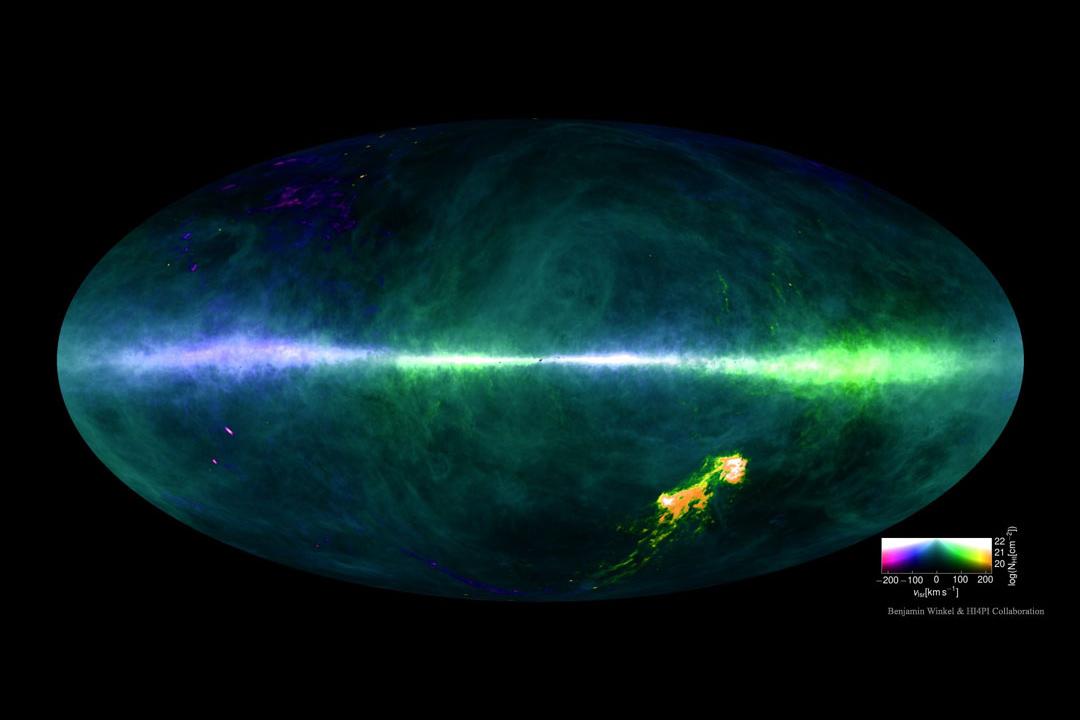 هیدروژن آسمان در نقشهHI4PI