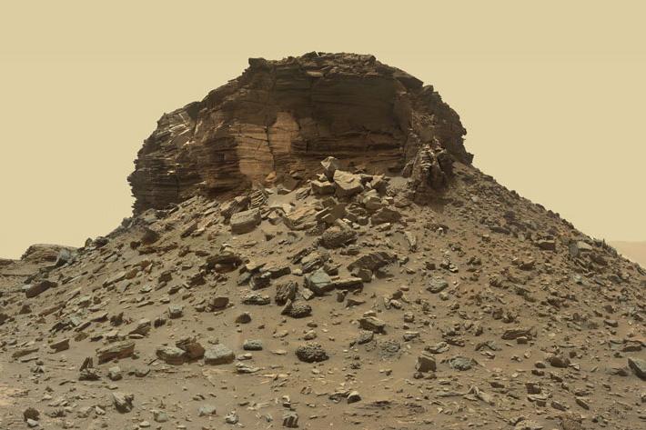 لایه های تپه های مریخ