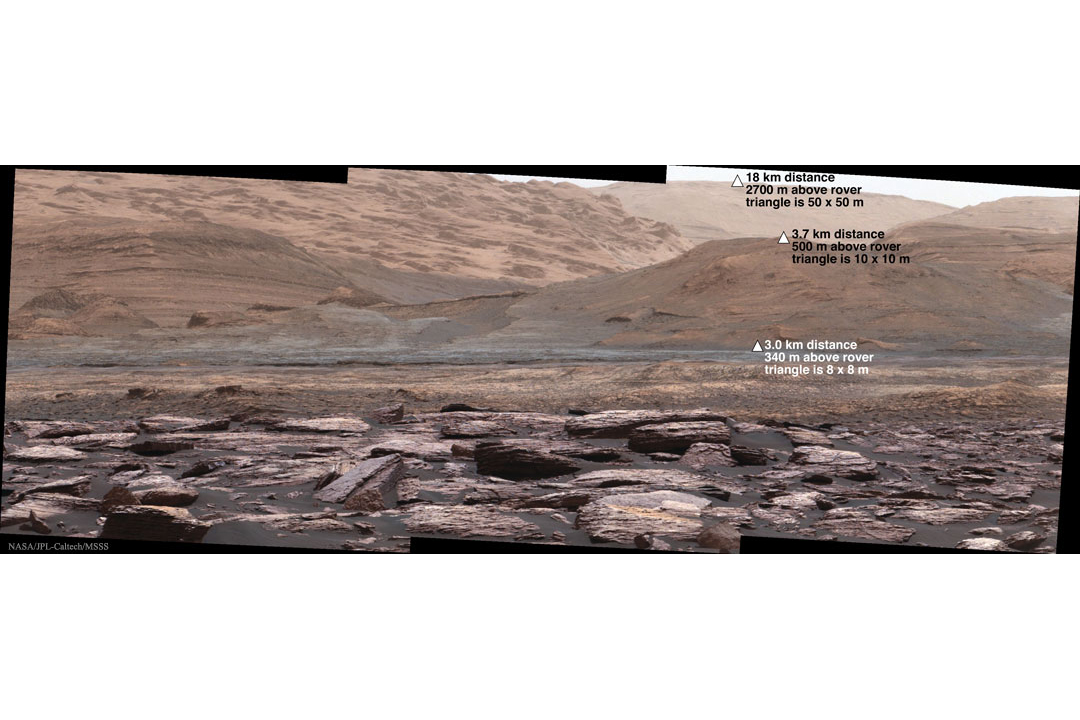 بررسی دامنه کوه شارپ توسط کنجکاوی