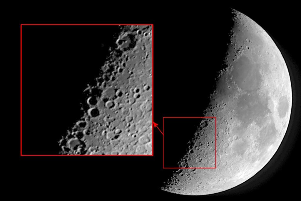 شکل ایکس روی ماه