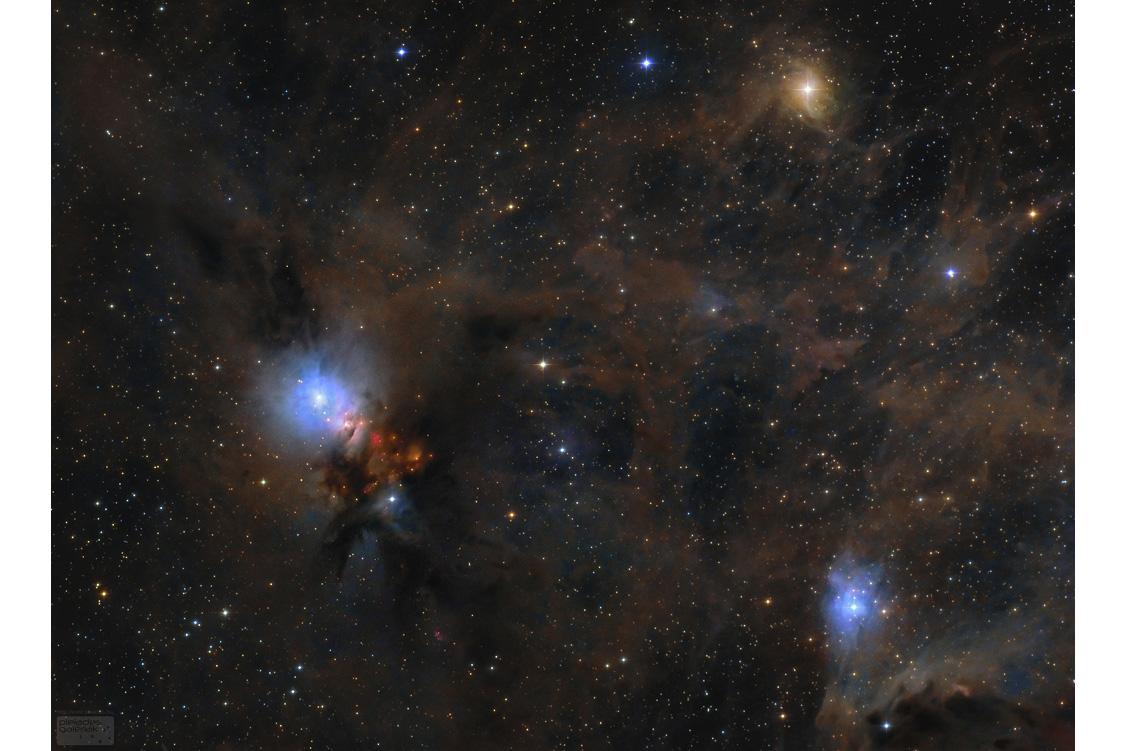 گرد و غبار ستاره ای در ابرمولکولی برساووش