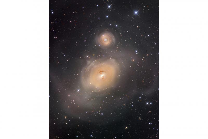 NGC 1316 پس از برخورد کهکشانی