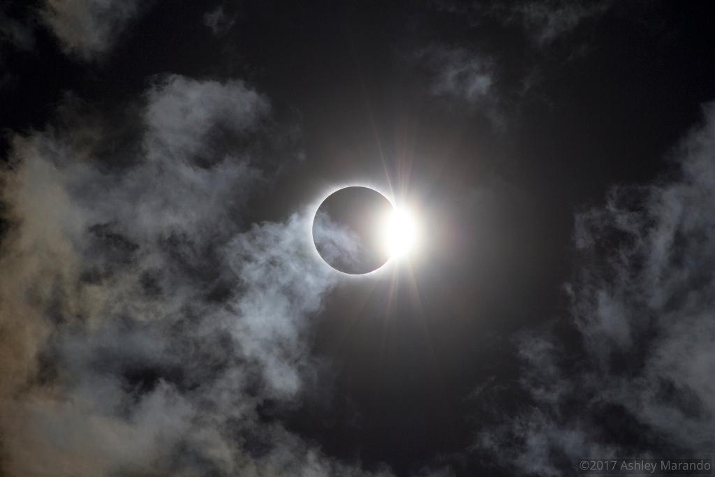حلقه الماس و آسمان ابری