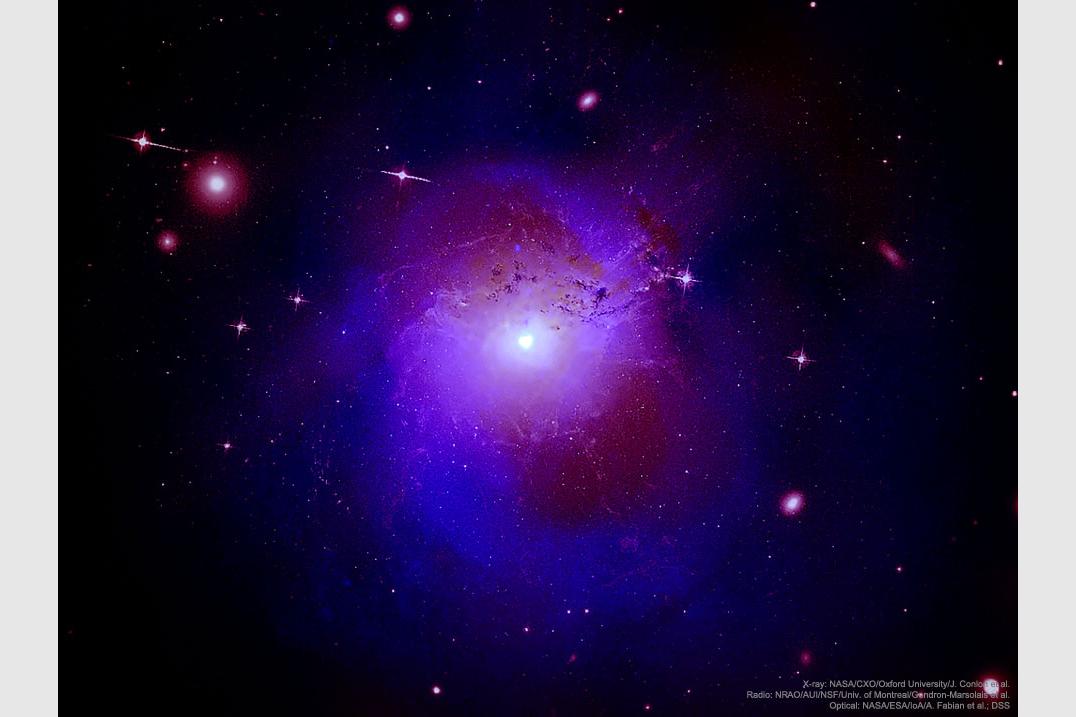 اشعه ایکس غیر منتظره از خوشه کهکشانی برساووش