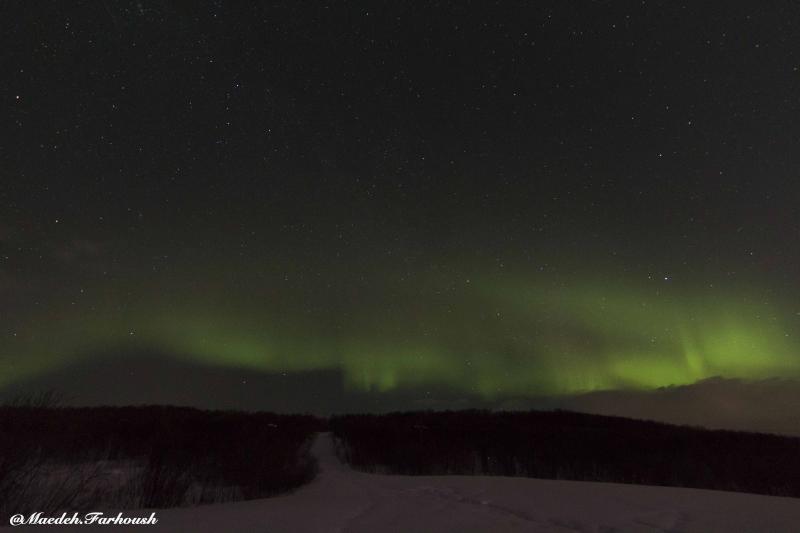 تایم لپس: شفق قطبی بر فراز مورمانسک