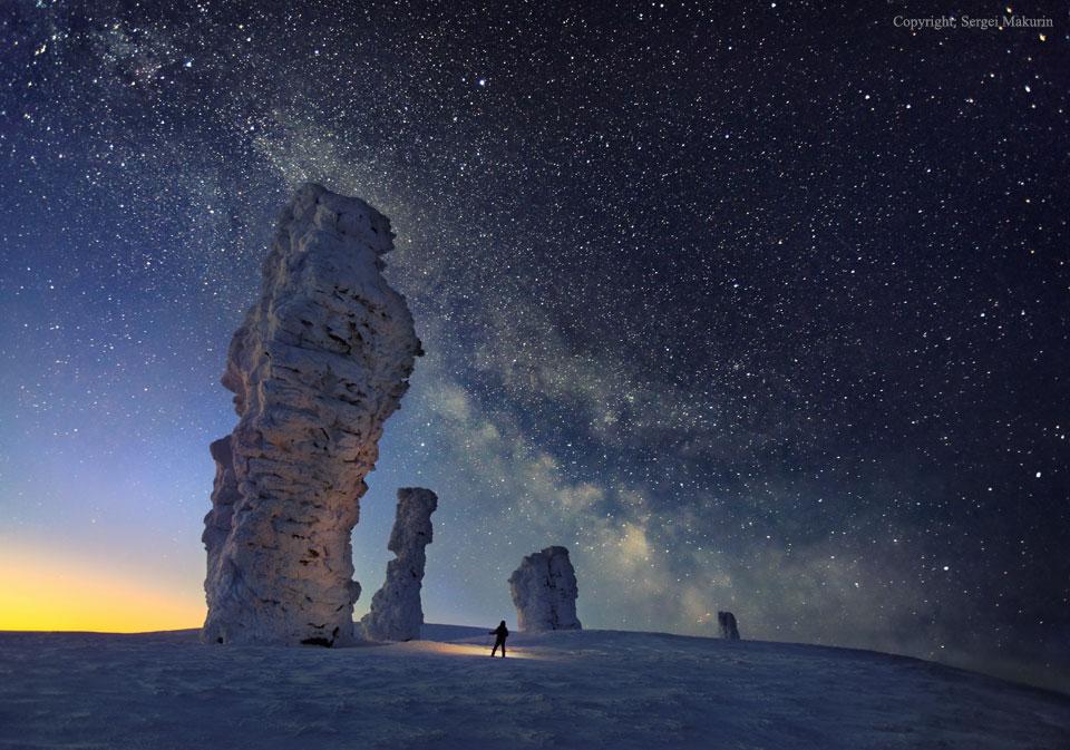 کهکشان راه شیری برفراز هفت صخره