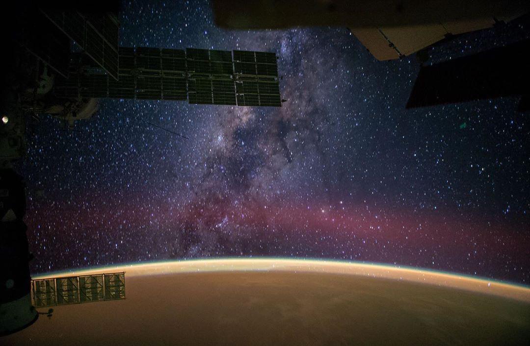 کهکشان راهشیری از ایستگاه بینالمللی فضایی (ISS)