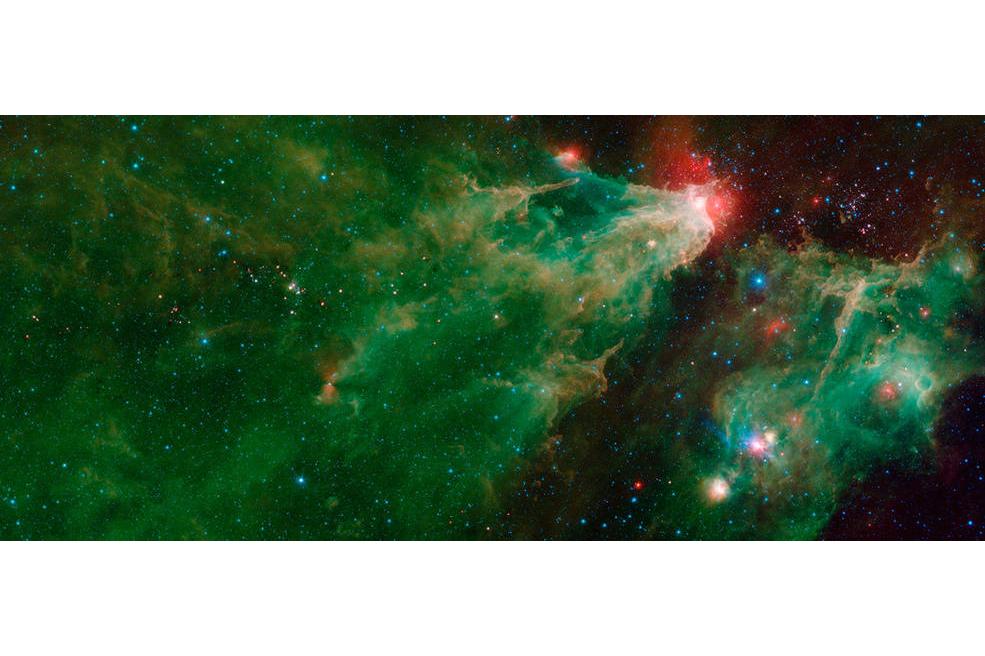 تصویر تلسکوپ اسپیتزر از یک خانواده ستارهای