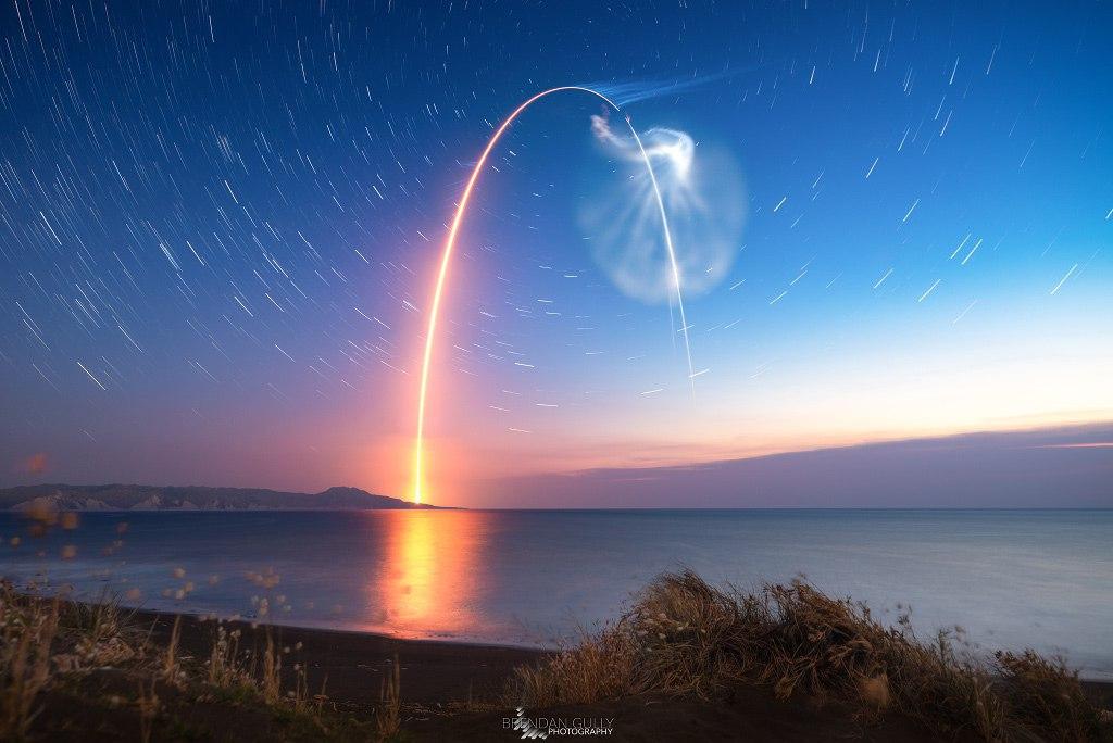 پرتاب موشک در آسمان جنوبی