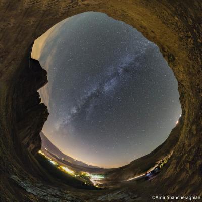 نمای تمام آسمان از قلعه الموت