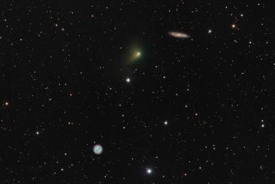 دنباله دار، جغد و کهکشان