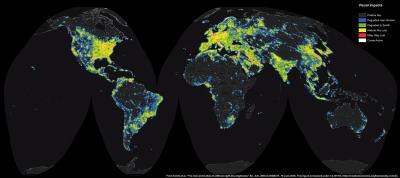اطلس جدید جهان از روشنایی مصنوعی آسمان