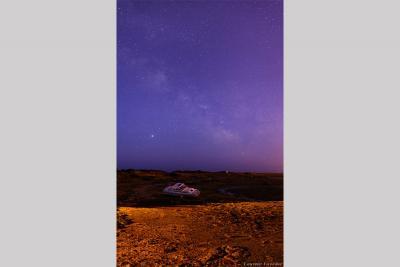 کهکشان راه شیری برفراز ساحل