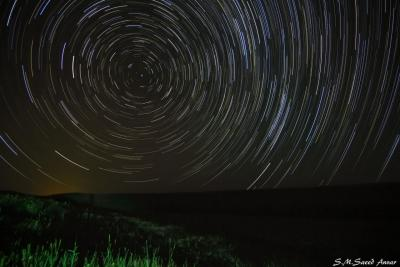 رد ستارگان در نزدیکی تخت سلیمان
