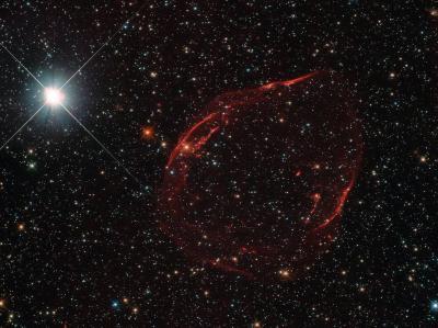 انفجار ستاره ای در تصویر هابل