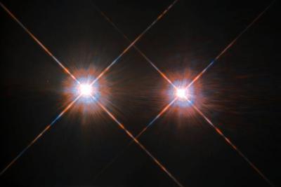 بهترین تصویر هابل از ستاره های آلفا قنطورس A و B