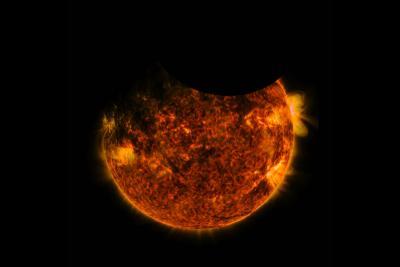 رصد خانه دینامیکی خورشیدی ناسا شاهد دو گرفتگی همزمان!