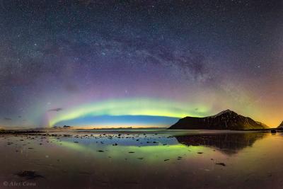 بازتاب نور شفق قطبی