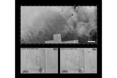 محل سقوط سطح نشین شیاپارلی در تصاویر مدارگرد مریخ