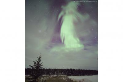 شفق قطبی برفراز کانادا
