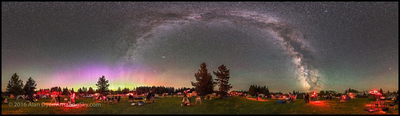آسمان پر ستاره و شفق