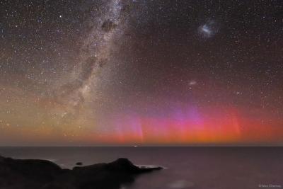 شفق قطبی قرمز بر فراز استرالیا