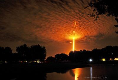موشک فالکن ۹ به سمت مدار زمین