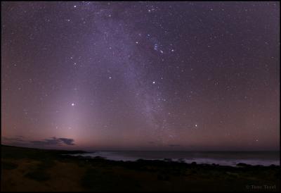 کهکشان راه شیری در آسمان هاوایی