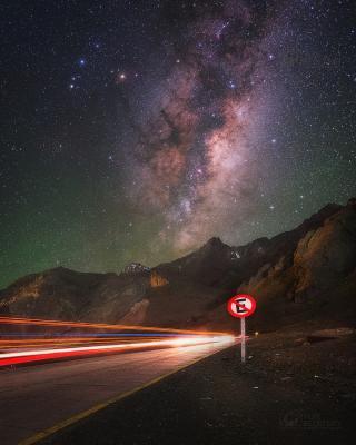 رانندگی در شب در شیلی