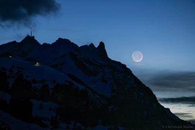 زمین تاب بر فراز رشته کوه آلپ