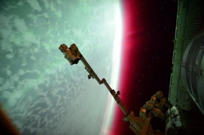 شفق قطبی از ایستگاه فضایی
