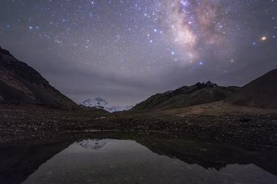 کهکشان راه شیری برفراز کوه اورست