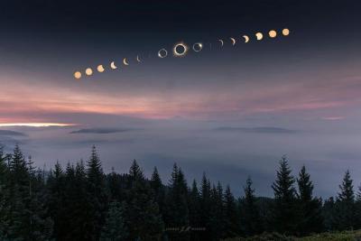 دنباله خورشید گرفتگی در اورگان