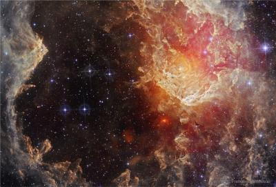 ستارهها و ستونهای گرد و غبار درNGC 7822