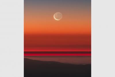 ماه پیر در آغوش ماه نو