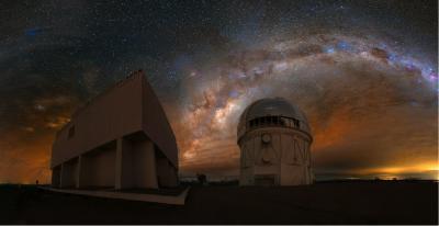 کهکشان راه شیری برفرازCTIO