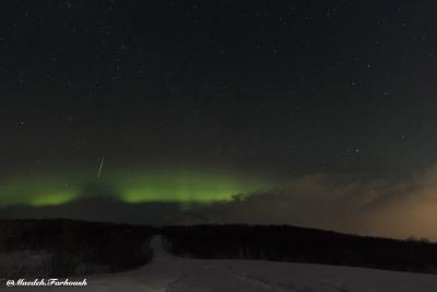شفق قطبی برفراز مورمانسک، روسیه