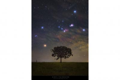 طلوع جبار در آسمان برزیل