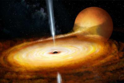 ساخت یک فیلم از تشعشعات سیاهچاله ها