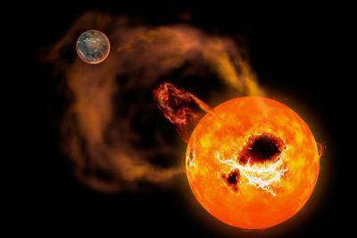 کشف ابرشرارهها روی ستاره کوتوله سرخ شیر