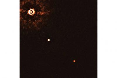 تصویر برداری از دو سیاره فراخورشیدی در مدار ستارهای خورشید مانند