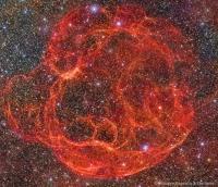 باقیمانده انفجار ابرنواختری Simeis 147: سحابی اسپاگتی