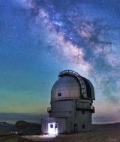کهکشان راه شیری برفراز رصدخانه هند