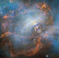 قلب تپنده سحابی خرچنگ در تصویر تلسکوپ هابل